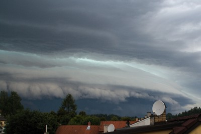 Shelf cloud - detail